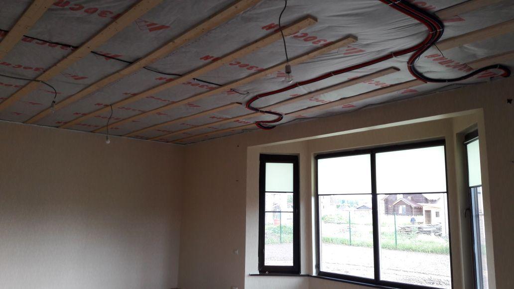 подготовка к двухуровневым натяжным потолкам