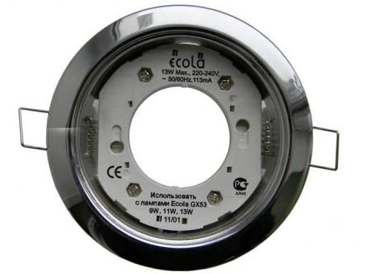 Светильник Ecola GX53 H4 встраив. без рефл. FB53P2ECB