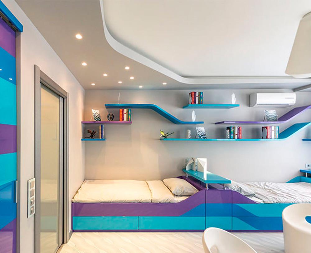 Натяжной потолок в детскую комнату