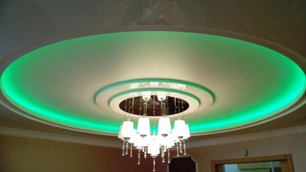 фото многоуровневых потолков с подсветкой колоритные