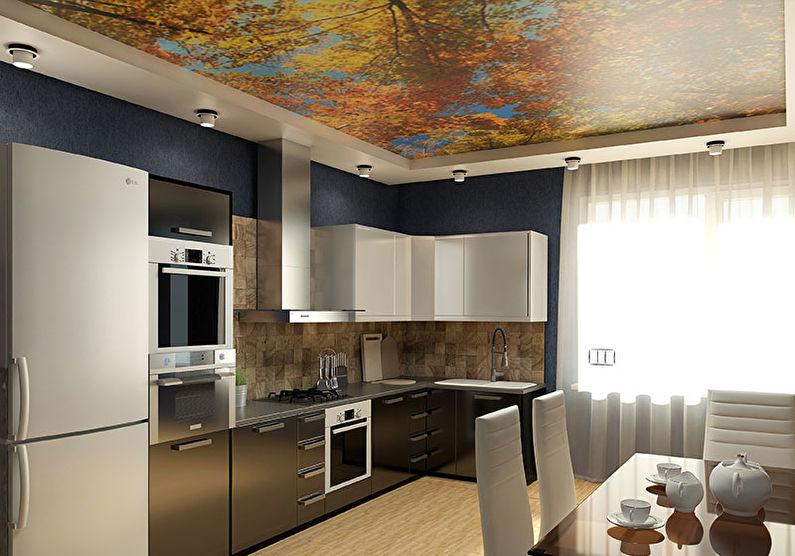 Потолок для кухни образцы и фото