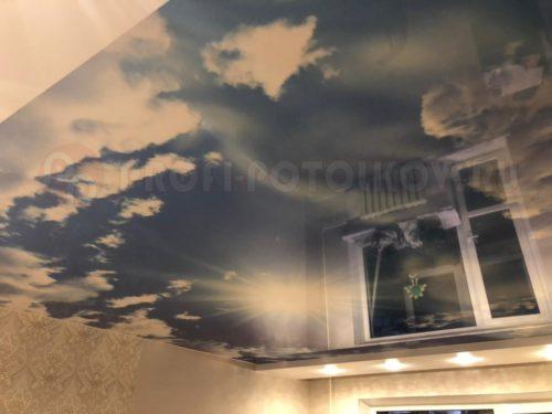 Натяжной потолок с фотопечатью | «Профи-Потолков»