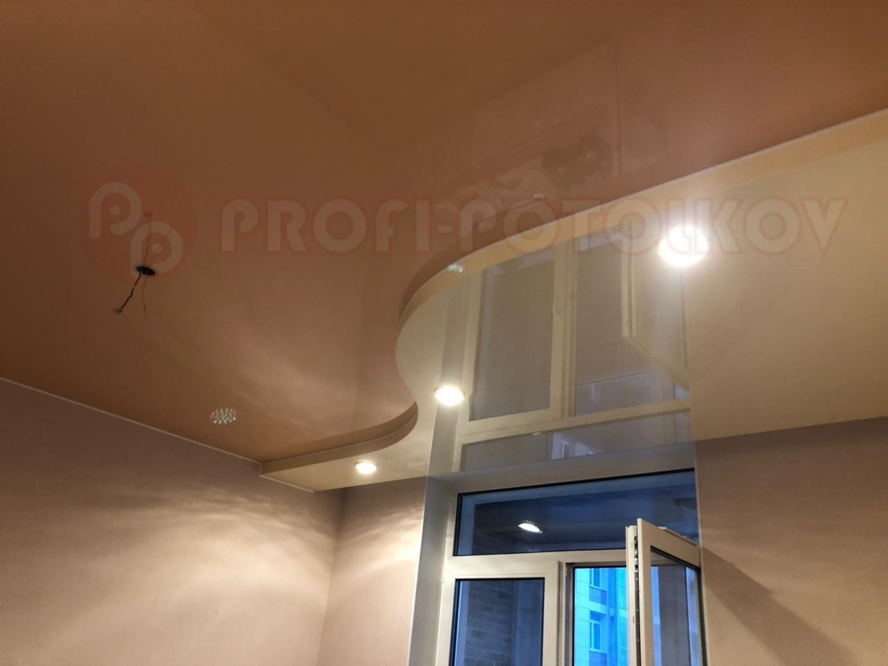 Двухуровневый натяжной потолок | «Профи-Потолков»