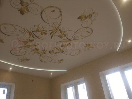 Натяжной потолок с фотопечатью и подсветкой | Профи-Потолков
